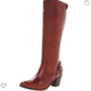 Frye Jackie brown leather boots size 8.5